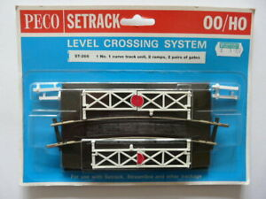 UNOPENED PECO SETRACK 00 GAUGE LEVEL CROSSING SYSTEM ST 266