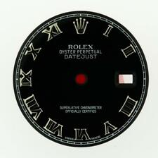 Original Men's Rolex Datejust 116200 116220 116234 Gloss Black Roman Dial SS #C7