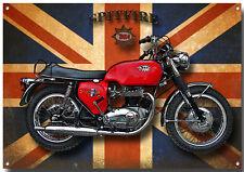 A3 Groß BSA Spitfire Motorrad Metall Schild, Vintage Motorrad