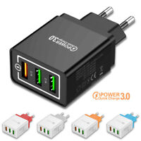 3 Port Fast Quick Charge QC 3.0 USB Hub Wall Charger Power Adapter US EU Plug