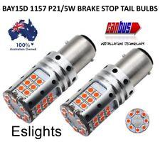 2X BAY15D 1157 12V P21/5W RED 3030 LED BRAKE STOP TAIL LIGHT CANBUS BULBS GLOBE