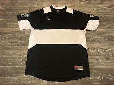 Nike Team Mens Large Ohio Football Club Soccer Jersey Black White Vintage