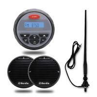 "12V Marine Boat Bluetooth Radio Stereo Receiver +3"" Boat Speakers+FM/AM Antenna"