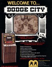 Merit DODGE CITY 1988 NOS Original Video Poker Arcade Game Machine Sales Flyer