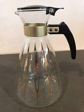 Vintage Corning Ware Pyrex Atomic Starburst Glass Coffee Pot Carafe Juice MCM