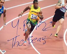 Yohan Blake Jamaica 2012 Olympics Signed 11x14 Photo Psa/Dna X73514