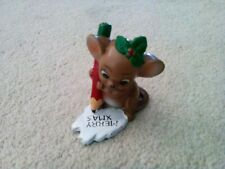 """Vintage Josef Originals 2 3/4"""" Merry Xmas Mouse Made in Japan 3 Stickers"""