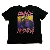 Hudson Outerwear mens Tshirt 100%AUTHENTIC size Large black savage records