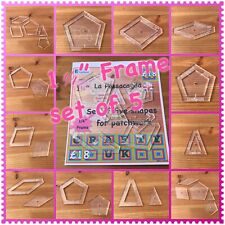 "Passacaglia Template Set 1 ¼"""" Frame ¼"""" seam"