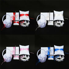 5pcs/ Wedding Flower Basket + Guest Book Pen  + Ring Pillow + Garter