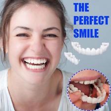 Snap On Bottom Upper Lower False Teeth Dental Veneers Dentures Perfect Smile