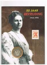 Numisblad Nederland penning - Wilhelmina 50 jaar bevrijding (04)