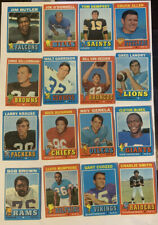 1971 Topps Football Cards - Lot of 168 Cards (all Unique)
