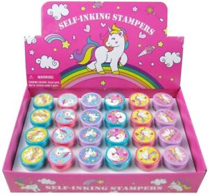 24ct Unicorn Boxed Stamps self-ink toy Party Favors Party Supply
