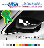 ADESIVI RENAULT SPORT Clio Megane Scenic Tuingo specchietto Auto Decal Stickers