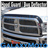 Black Bug Shield Guard Deflector Hood Guard Protector for 10-18 Dodge RAM 2500+3