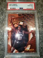 1997-99 Topps Finest Bronze Base RC Tim Duncan #101 PSA 10 GEM MINT Spurs