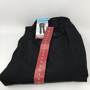 Free Country Womens Softshell Ski Snowboard Pants Black XL Green Insulation NEW!