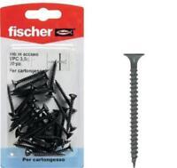 Fischer viti in acciaio VPC 3,5x45 K 30 PZ x cartongesso colore nero cod. 504667