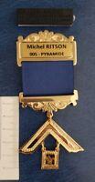 Past Master gold plated Jewel For Masonic Collar Regalia Freemasonry