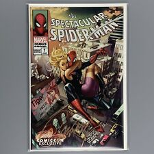 Spectacular Spider-Man 001 J Scott Campbell COMIC CON Cover D SIGNED COA #0563