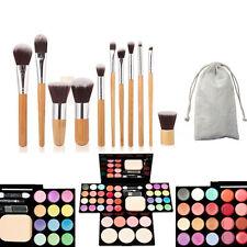 Blusher Lip Gloss Shimmer Eyeshadow Palette Makeup Kit Set 11Pcs Makeup Brushes