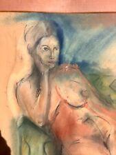Kölner Original Heimat Akt Künstler Peter Hehner (45x65) Bild Gemälde Porträt
