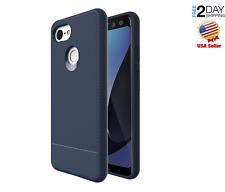 Google Pixel 3 Case Silicone TPU Flexible Ultra-Thin Anti-Scratch Blue Cover