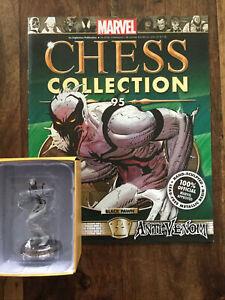 EAGLEMOSS  Marvel Chess Collection # 95 Anti Venom White Pawn + Magazine Rare