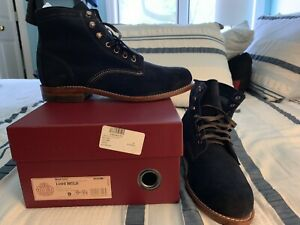 New!!! Size 9D - Wolverine W40092 Original 1000 Mile Navy Suede Boots - USA