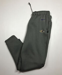 Nike Men's Baltimore Ravens Sideline Therma-FIT Heavy Sweatpants Size Large New