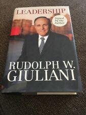 SIGNED AUTOGRAPHED Rudy Rudolph Giuliani Leadership 1st Ed. Hardcover Book