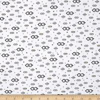 Millions Of Minions Googly Eyes White 100% cotton fabric by the yard