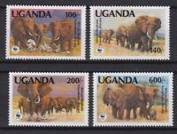 UGANDA 1991, Mi #960-963, WWF, animals, MNH