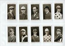 1931 OGDEN'S STEEPLECHASE CELEBRITIES CIGARETTE CARDS FULL SET 50/50 EXCELLENT