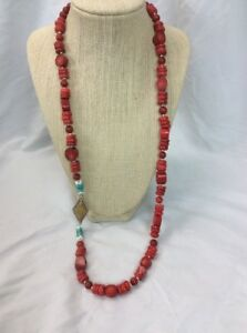 Stunning Silpada  sterling Silver 925 Red Coral necklace