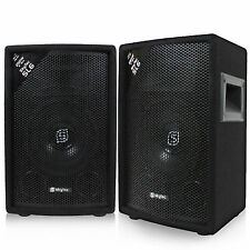 "Pair of Vonyx 6"" Passive 2-way DJ PA Speakers House Party Disco Setup 250w"