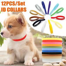 12 Color Adjustable Puppy Whelping Id Collars Newborn Band Litter Cat Dog Kitten
