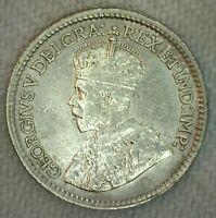 1913 Canada 5 Five Cent Coin Silver Extra Fine