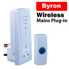 Byron Mains Plug In Wireless Remote Door Bell  Up To 30 Metre Range DB303
