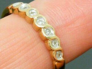9ct Gold  Diamond Hallmarked Eternity Ring size P
