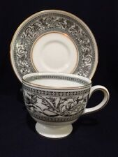 "WEDGWOOD LEIGH SHAPE CUP/SAUCER ""FLORENTINE"" W4312 (listing is for one (1) set)"