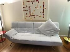 "NEW in box ""Smala"" sofa by Ligne Roset in white leather - complete element"