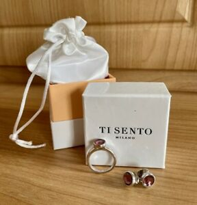 Ti Sento Sterling Silver Earrings And Ring