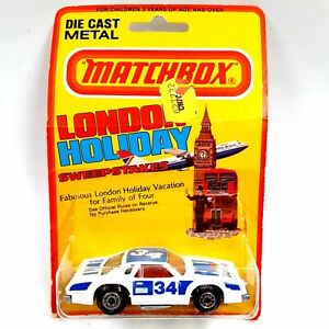 Vintage 1980 Matchbox Superfast London Holiday #34 Chevy Pro Stocker New Sealed