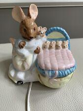 Vintage Schmid Beatrix Potter 1989 Night Light Lamp Mouse Figurine #Wh-2