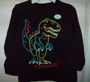 Garanimals Dinosaur Black Long Sleeve Shirt Toddler Boys Size 4T NWT