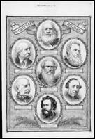 1872 Antique Print Portraits - Obituary Record Bamford Mayhew Bellairs    (215)