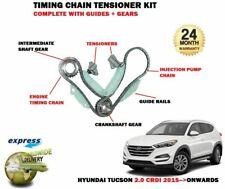FOR HYUNDAI TUCSON 2.0 CRDI 2015-> TIMING CHAIN TENSION KIT + GUIDES + GEARS SET