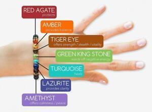 7 Chakra Healing Bracelet Real Stones Natural Gemstone Yoga Meditation Jewelry